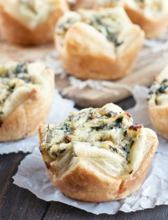 Chicken Spinach Artichoke Dip Puffs