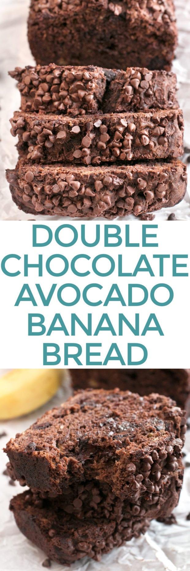 Double Chocolate Avocado Banana Bread