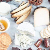 Sweet Goat Cheese Valentine's Day Cheese Board
