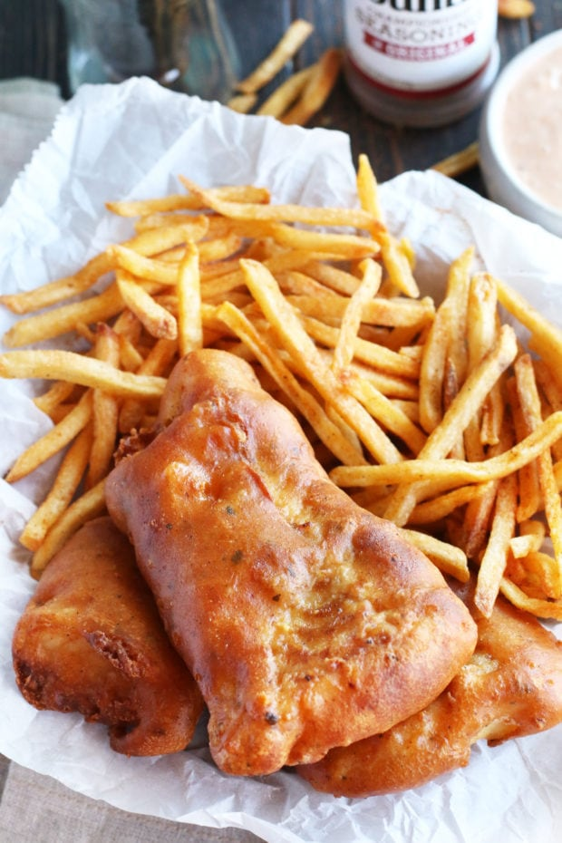 BBQ Beer Battered Fish and Chips