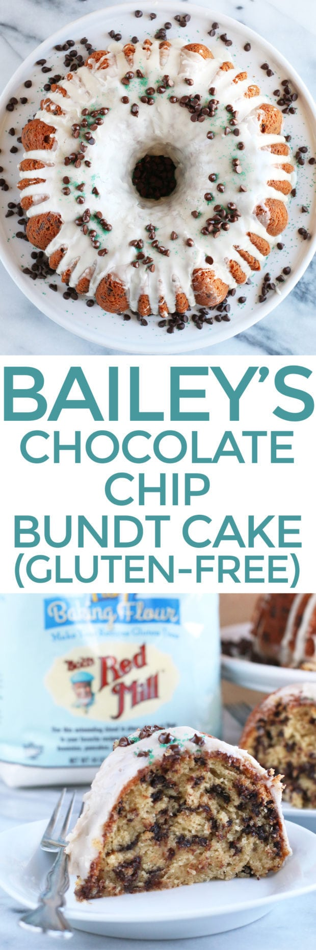 Bailey's Chocolate Chip Bundt Cake pin image