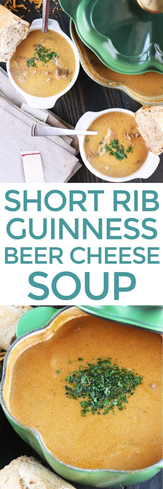 Short Rib Guinness Beer Cheese Soup