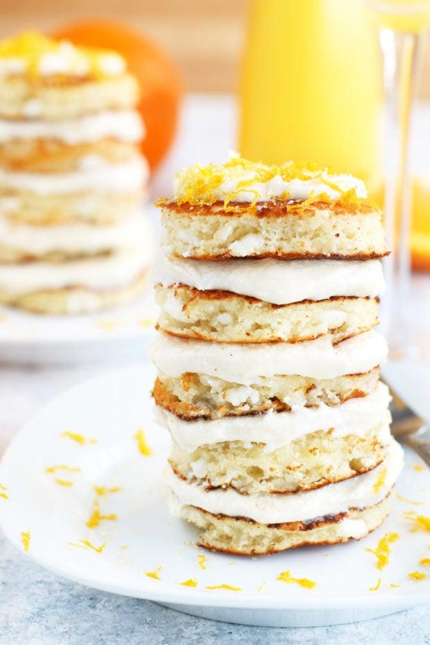Mimosa Pancake Stacks
