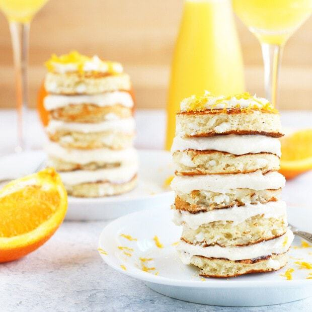 Mimosa Pancake Stacks