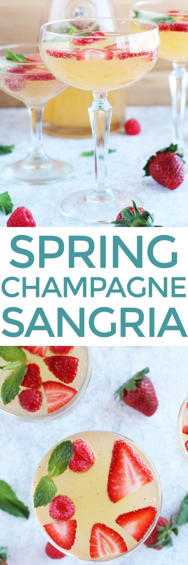 Easy Champagne Sangria