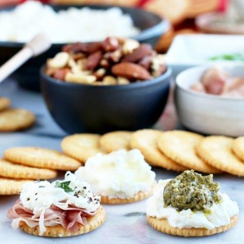 RITZ Cracker Ricotta Toppings Bar