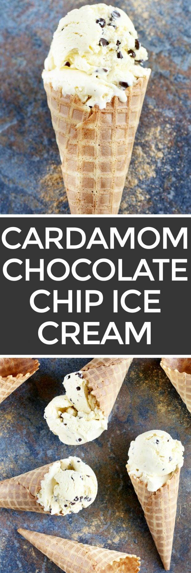 Chocolate Chip Cardamom Ice Cream