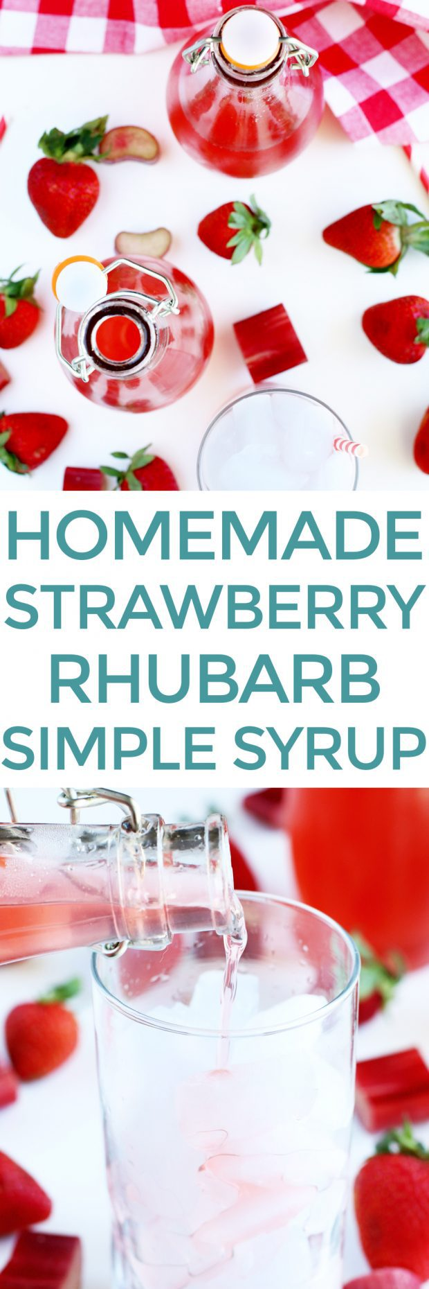 Homemade Strawberry Rhubarb Simple Syrup