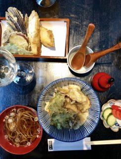Vegetable Tempura Udon Soup in Kyoto