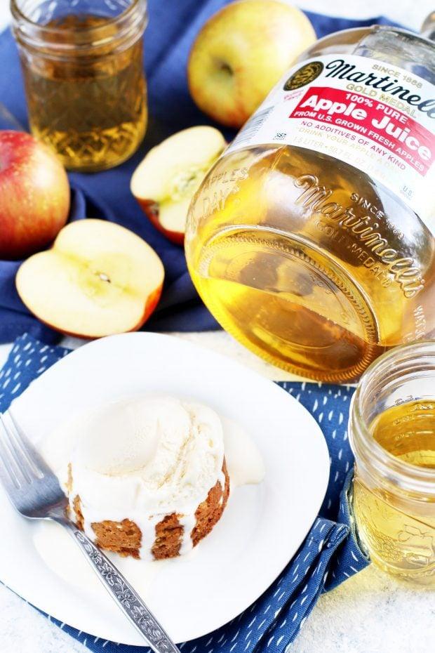 Caramel Apple Molten Cakes