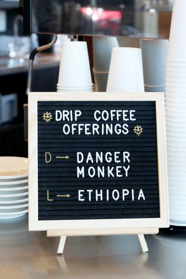 Pablo's Coffee on East Colfax coffee sign
