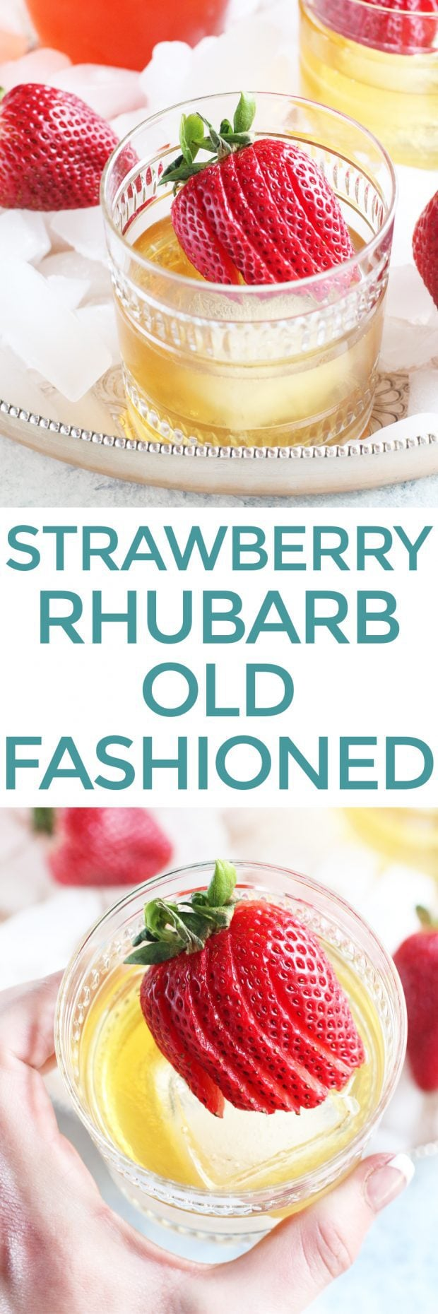 Strawberry Rhubarb Old Fashioned