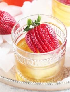 Strawberry Rhubarb Old Fashioned