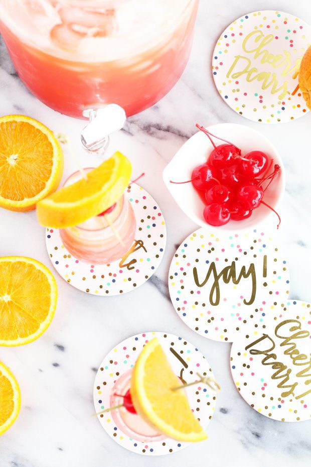 Tequila Sunrise Champagne Punch