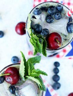 Cherry Blueberry Mojito