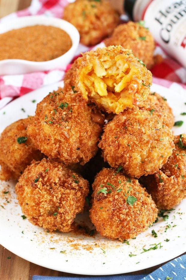 BBQ Fried Mac N Cheese Balls