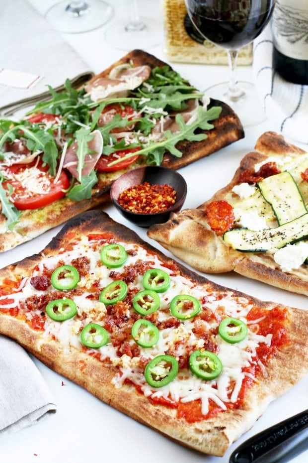 Last Minute Grilled Pizza Bar Party