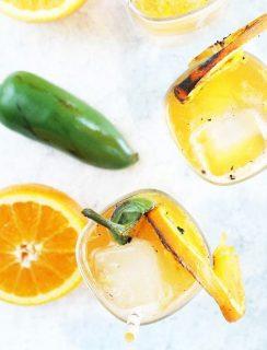 Grilled Jalapeno Orange Shandy