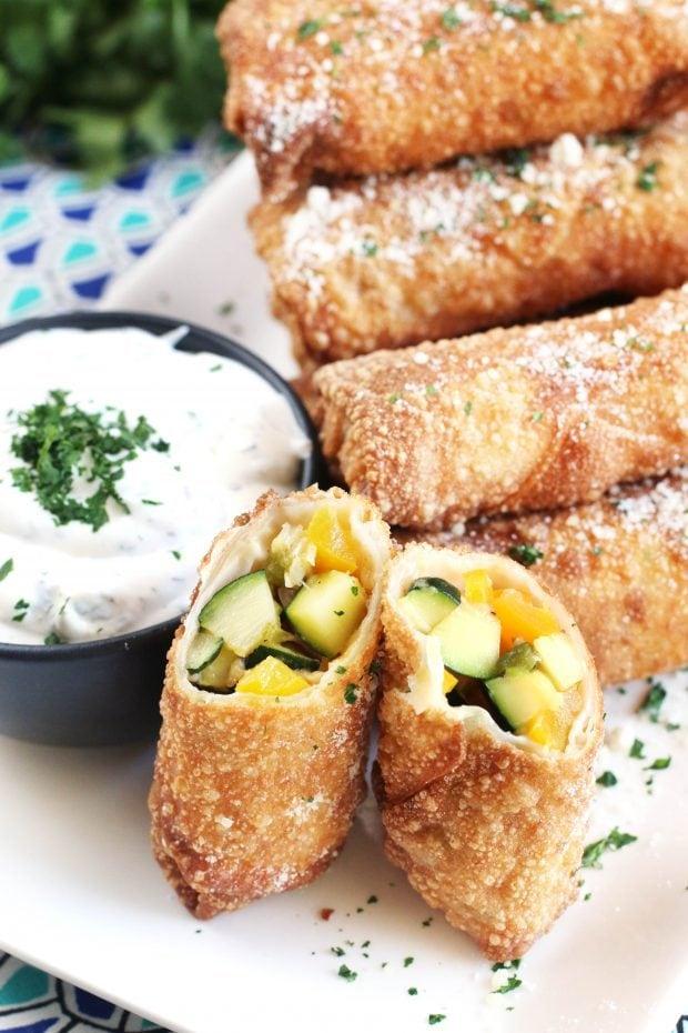 Grilled Vegetable Egg Rolls