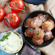 Parmesan Tomato Cauliflower Arancini