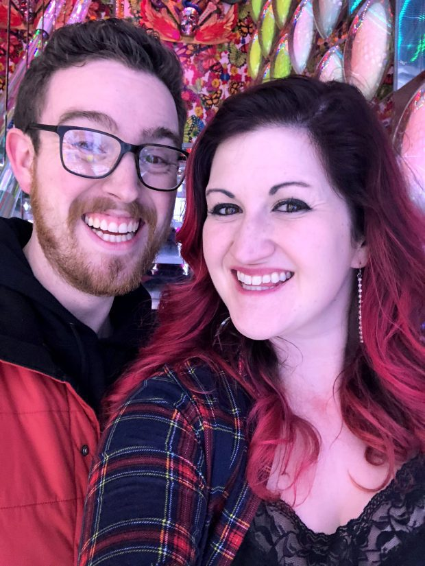 The Man and I at the Robot Restaurant
