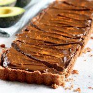Spicy Chocolate Avocado Tart
