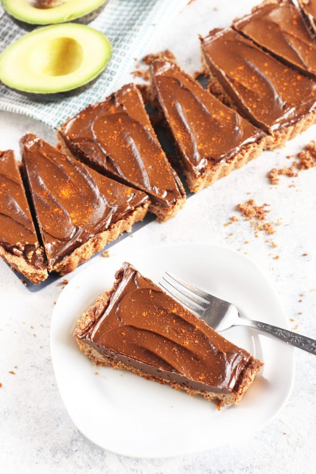 Spicy Chocolate Avocado Tart