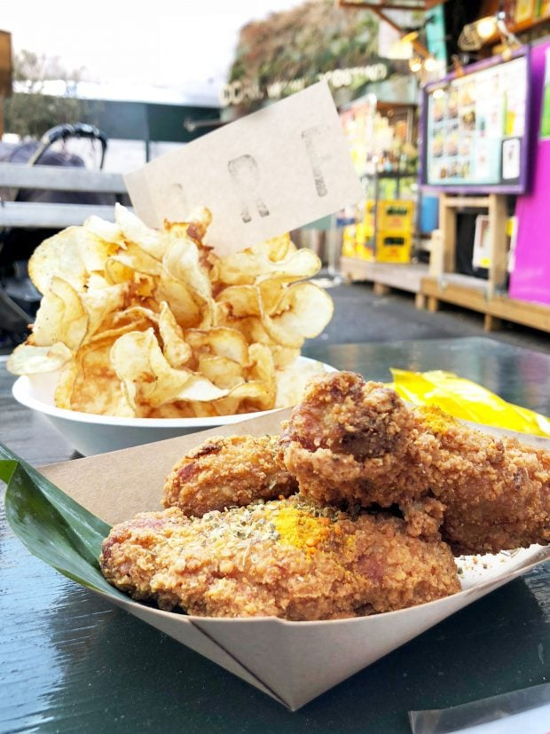 Fried Chicken and Brooklyn Ribbon Fries in Shibuya