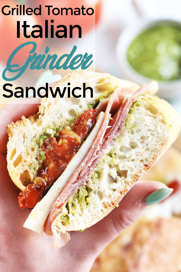 Grilled Tomato Italian Grinder Sandwich