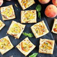 Peach Basil Goat Cheese Tarts