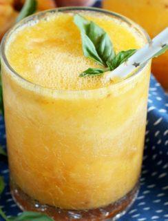 Roasted Peach Gin Fizz