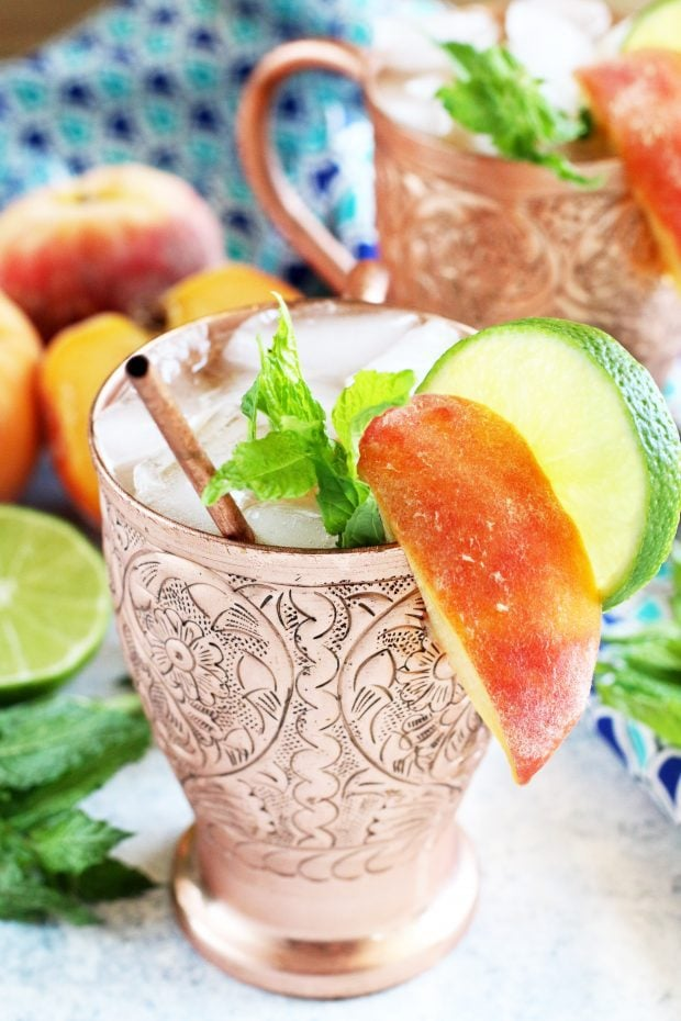 Peach Mint Moscow Mule