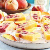 Raspberry Peach Prosecco Popsicles