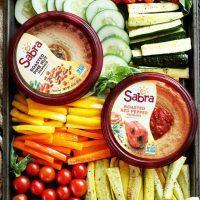 Summer Garden Vegetable Hummus Board