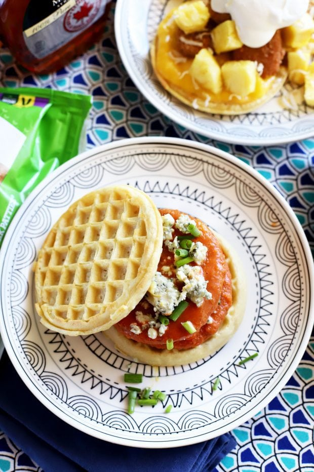 Two Takes On Chicken and Waffles