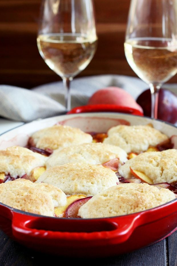 Peach Plum Cobbler
