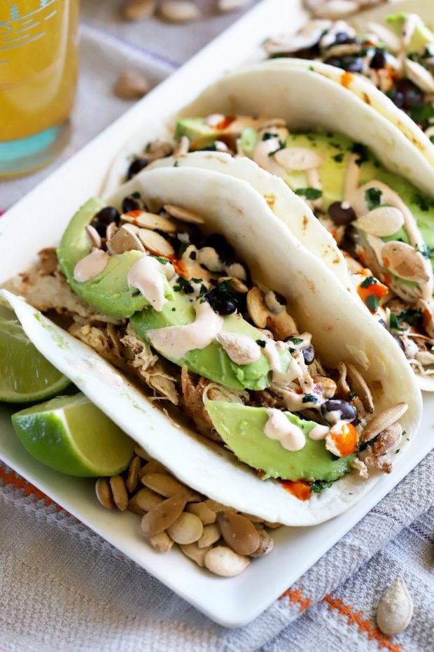 Pumpkin Spice Chicken Tacos