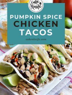 Pumpkin Spice Chicken Tacos Recipe Pinterest Graphic