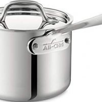 All-Clad Stainless Steel Tri-Ply Bonded Dishwasher Safe Sauce Pan with Lid