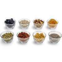 Libbey Small Glass Bowls with Lids, 6.25 ounce, Set of 8