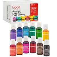Food Coloring Liqua-Gel - 12 Color Variety Kit in .75 fl. oz. (20ml) Bottles