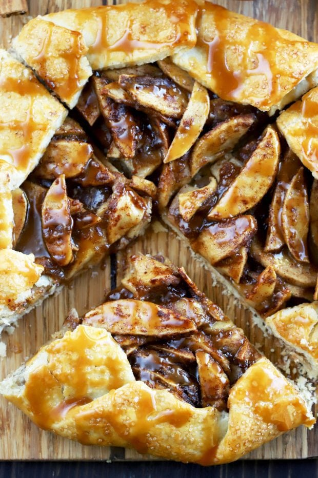 Bourbon Caramel Apple Galette - Last Minute Thanksgiving Recipes