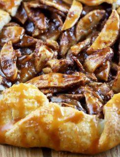 Bourbon Caramel Apple Galette