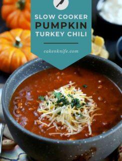 Slow Cooker Pumpkin Turkey Chili Pinterest Graphic