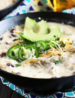 Slow Cooker Creamy White Chicken Chili