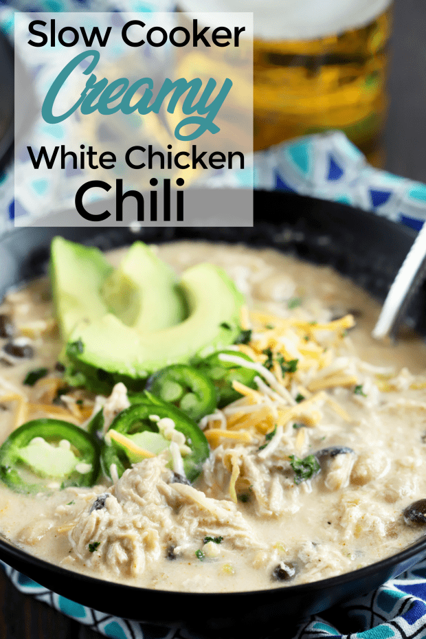 Slow Cooker Creamy White Chicken Chili