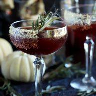 Spooky Pomegranate Mezcal Cocktail