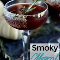 Spooky Pomegranate Mezcal Cocktail Pinterest Image
