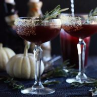 Spooky Pomegranate Mezcal Cocktail square cropped thumbnail image