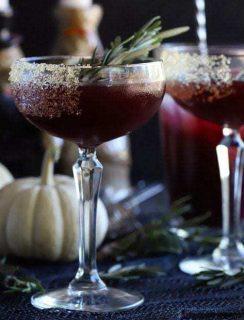 Spooky Pomegranate Mezcal Cocktail square cropped thumbnail image